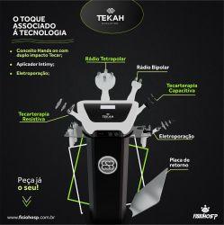 Tekah Evolution - Aparelho de Tecarterapia Tecnologia Duplo Impacto Capacitiva e Resistiva com Eletroporação